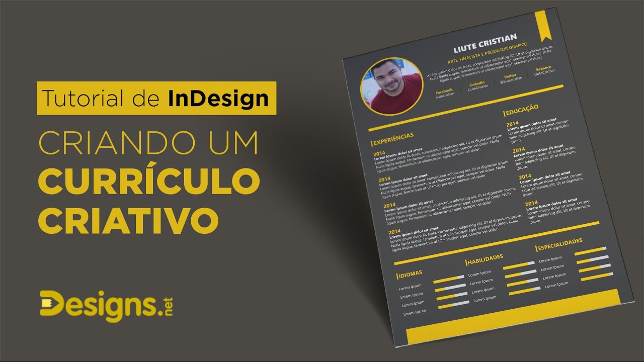 Tutorial De Indesign Criando Um Curriculo Criativo Designs Net