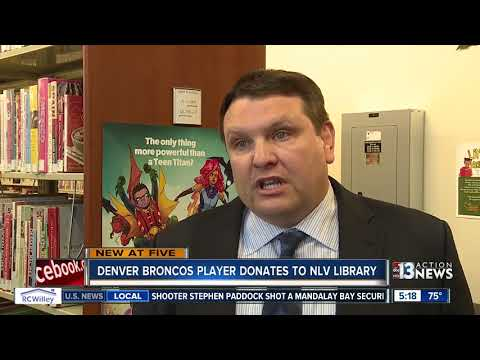 Denver Broncos player Brandon Marshall donates to North Las Vegas Library