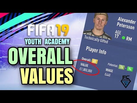 FIFA 19 YOUTH ACADEMY: OVERALL VALUES