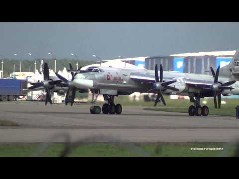 Tupolev Tu-95MS Engine Start and Takeoff