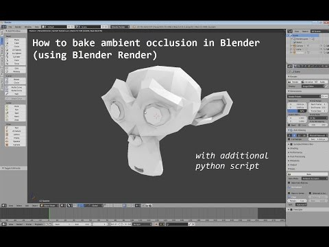 How to bake ambient occlusion in Blender (using Blender Render)   With additional python script