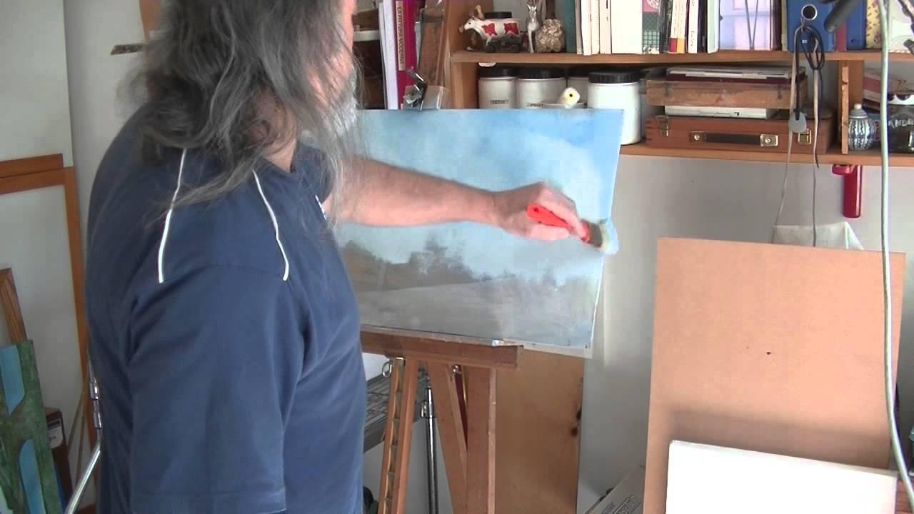 Dipinti Murali E Pittura Ad Ago : Come dipingere il cielo in modo facile e veloce acrilico youtube