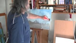 Repeat youtube video come dipingere il cielo in modo facile e veloce (acrilico)