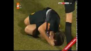 Aydın Yılmaz'ın Ayağı Kırıldı Elazığspor Galatasaray Maçından Görüntüler 22 Ocak 2014 Çarşamba