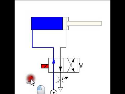 double slit diagram using a 4 2 valve to control a double acting cylinder ... #11