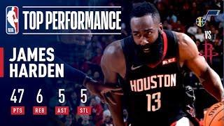 James Harden Drops 47 Points as Houston Takes Down Utah | December 17, 2018