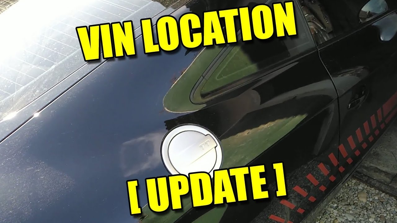 Where Is Vin Update Chassis Number Location Audi Tt Mk2 Youtube