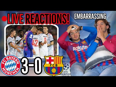 🚨LIVE REACTION: Barcelona DESTROYED AGAIN by Bayern Munich 3-0 in UCL - [Embarrassing 😣]