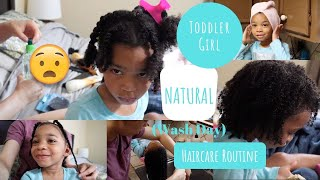 Toddler Curly Haircare Routine 2019 | Easily Detangle and Style Natural Hair to Retain Length