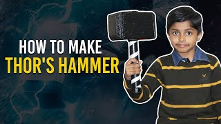 How to make Thor's Hammer out of Cardboard (in Hindi) | Thor's Hammer DIY Hindi