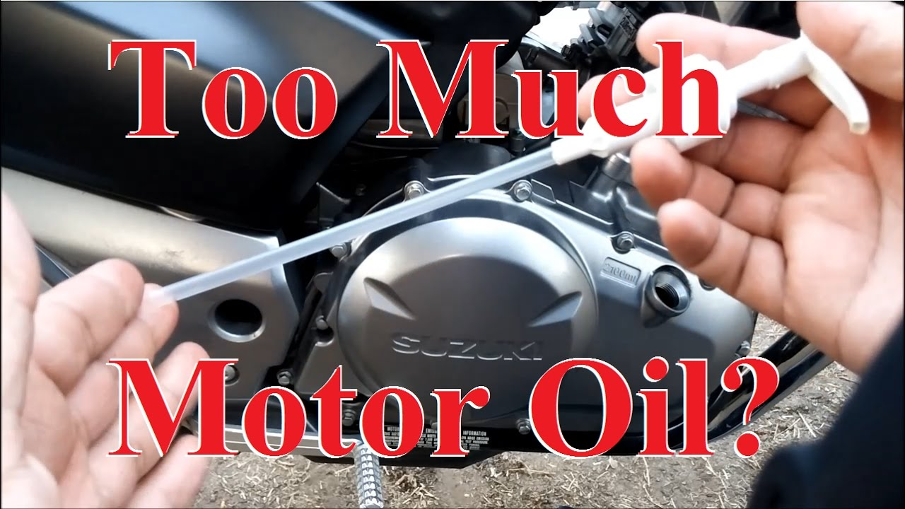 How to Remove Excess Motor Oil