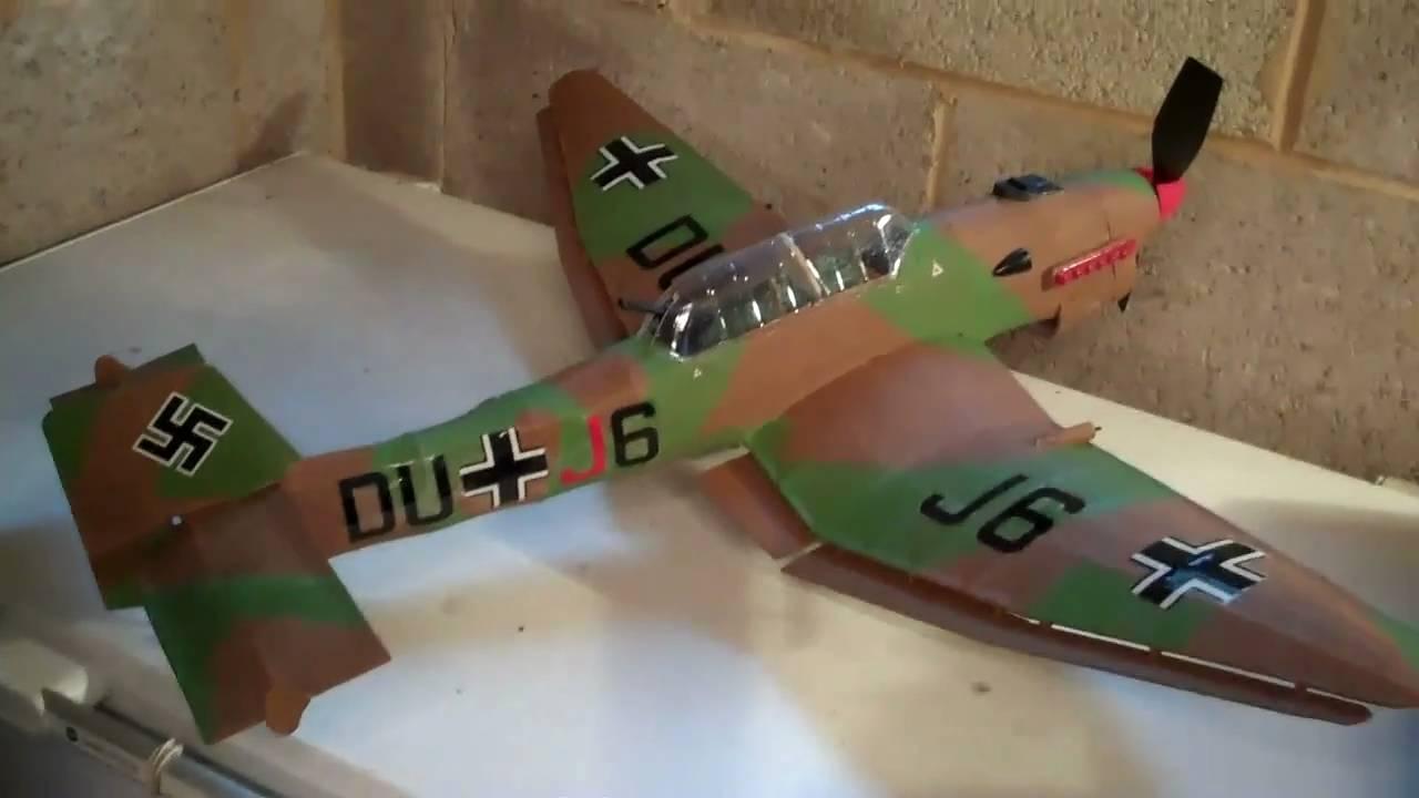 Guillows Ju 87 Stuka Balsa Wood Model Youtube