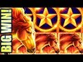 ★MUSTANG MIGHTY BIG WIN!★ MUSTANG GOLD 🐎 Slot Machine Bonus (Ainsworth)