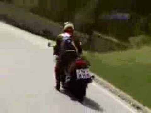 Motorcyclist Hits A Wall Headon
