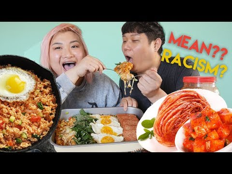 KIMCHI FRIED RICE MUKBANG - Asian American Tag FoodWithSoy