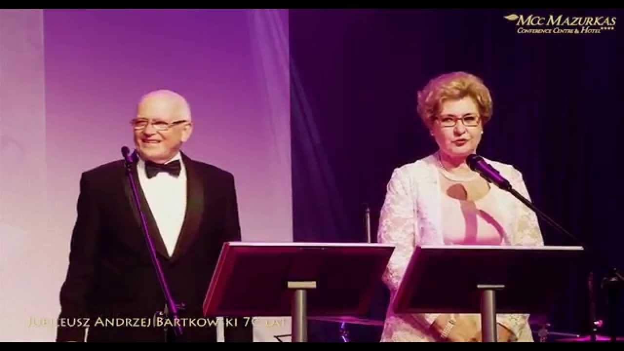 Jubileusz Andrzej Bartkowski 70 lat otwarcie wieczoru- Irena Bartkowska i Andrzej Hulewicz