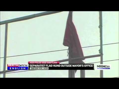 Separatist Flag Hung Outside Mayors Office in Aceh Province