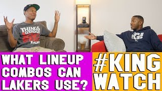 WHAT ARE SOME LINEUP COMBINATIONS THE 2019 LAKERS CAN USE ? | Hoops N Brews