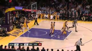 Lakers vs Jazz Highlights January 25 2013 - Kobe Bryant 14 pts 14 assists