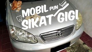 MINGGU ISENG - Bersihkan Mika Lampu Mobil Yang Menguning #Vlog Tutorial