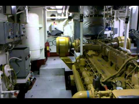 Houston Harbor Tug Thor Engine Room