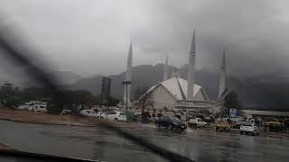 Magnificent Faisal Masjid in Rain (21 Jan 2019) Just before Asr Prayer.