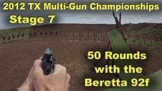 Beretta 92f on a 50 Round Pistol Stage (Larue 3-Gun 2012 Stage 7)