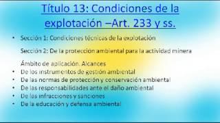 Código de Minería Argentina - Ley N° 25.225