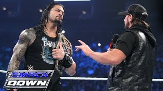 Roman Reigns and AJ Styles size each other up: SmackDown, April 7, 2016 thumbnail