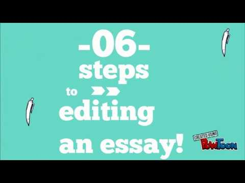 6 steps to editing an essay!