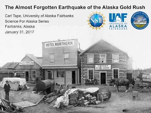 2017 Science for Alaska Lecture Series - January 31, Carl Tape, Associate Professor, UAF-GI