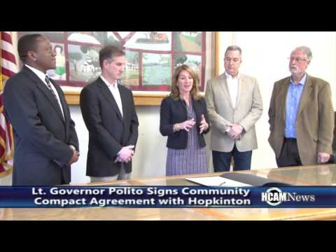 Lt. Governor Polito Signs Community Compact Agreement with Hopkinton