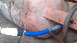 biogas filling in cylinder