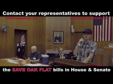 Support the SAVE OAK FLAT bill in Senate & House of Representatives