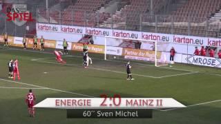 28. Spieltag FC Energie Cottbus - 1. FSV Mainz 05 II 2:1 - Die Highlights