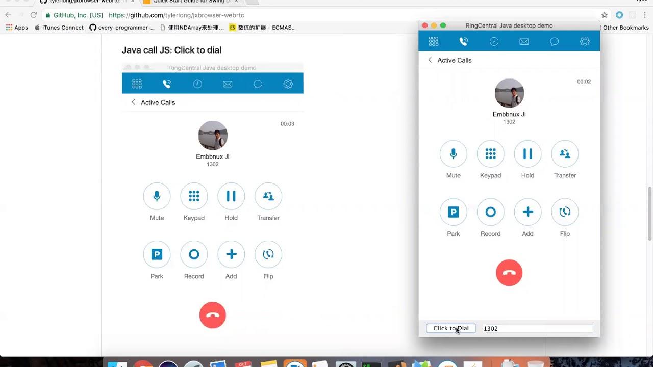 ringcentral embbeded in java desktop app