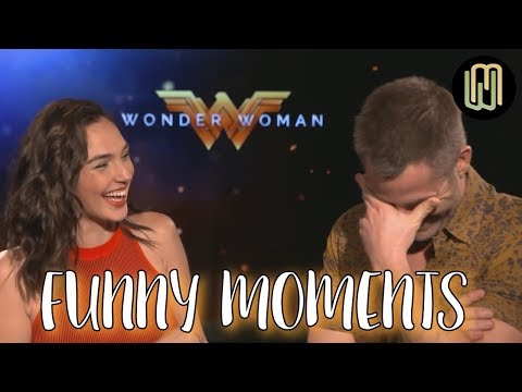 Gal Gadot and Chris Pine Funny Moments PART 1 - Wonder Woman