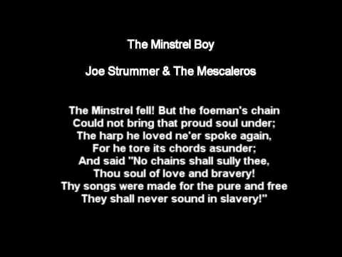 The Minstrel Boy - Joe Strummer & The Mescaleros
