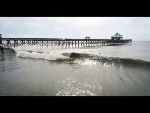 Hurricane Florence Surfing - Folly Beach, South Carolina