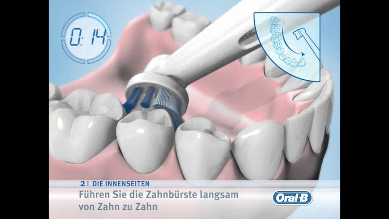 braun oral b video putzanleitung elektrische zahnbuersten youtube. Black Bedroom Furniture Sets. Home Design Ideas