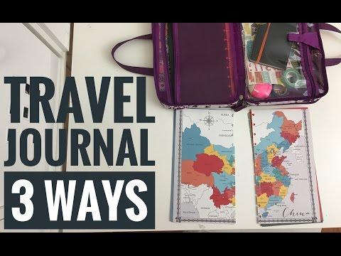 THREE ways to travel journal / smashbook / traveler's notebook / travel scrapbook