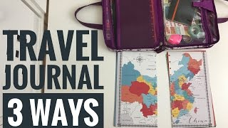 THREE ways to travel journal / smashbook / traveler's notebook / travel scrapbook