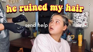DYING MY HAIR PINK (in my college dorm)