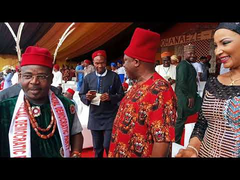 """Today ohanaeze unite for restructuring of Nigeria...  """"....restructuring is the only antidote to the"""