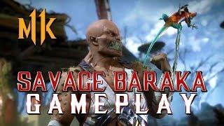 Mortal Kombat 11: Savage Baraka Gameplay!