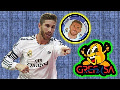 CHAPAS DE LA LIGA Sergio Ramos del Real Madrid Club de Fútbol