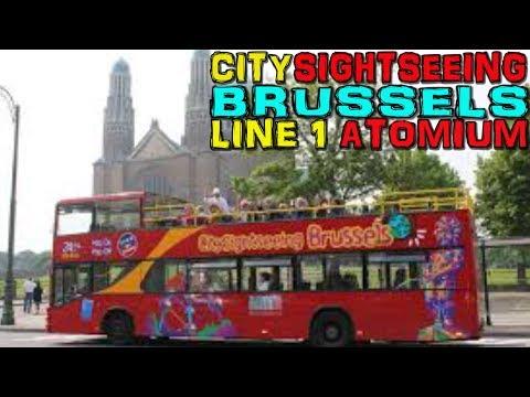 Brussels - City Sightseeing Bus Tour - Line 1 Atomium - Belgium (4K)
