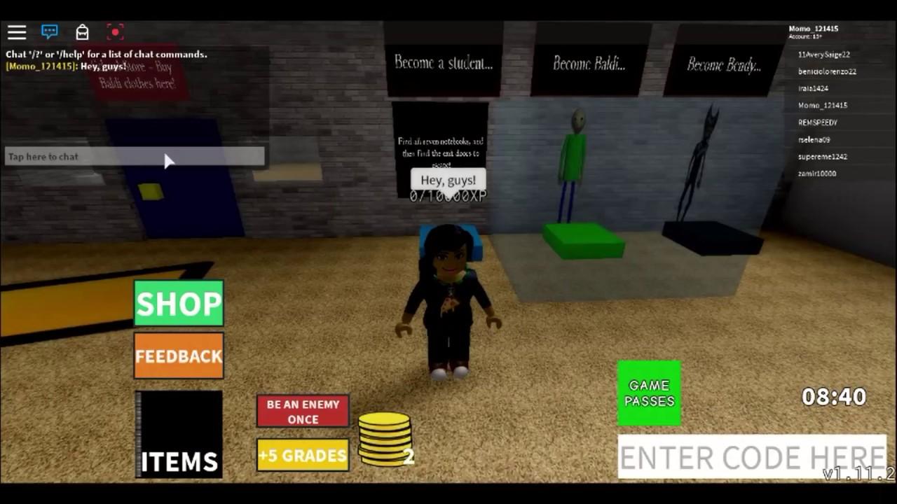 Roblox Baldi Game Codes Roblox Codes Baldi S Basics Beta Youtube