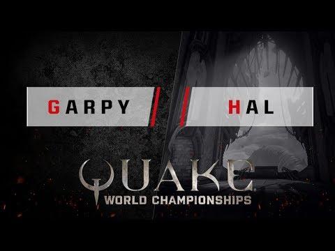 Quake - garpy vs. hal [1v1] - Quake World Championships - Ro32 EU Qualifier #2