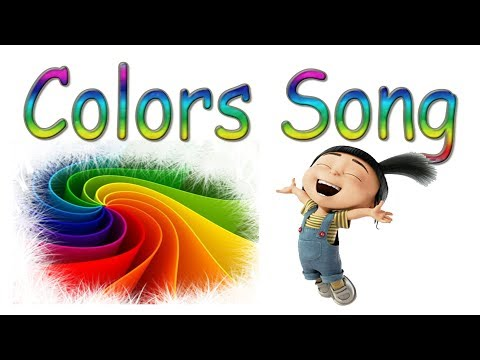 İngilizce Çocuk Şarkıları   Colors Renkler şarkısı Okul Öncesi pre-school english song